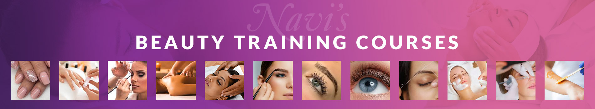 Beauty Training Courses Header